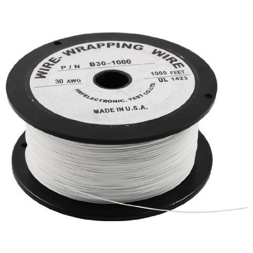 Amico P N B30 1000 White Insulated Pvc Coated 30awg Wire Wrapping Wires Reel 305m By Amico 23 94 Features Flexible And Insula Insulation Wrap Wire Reel Wire