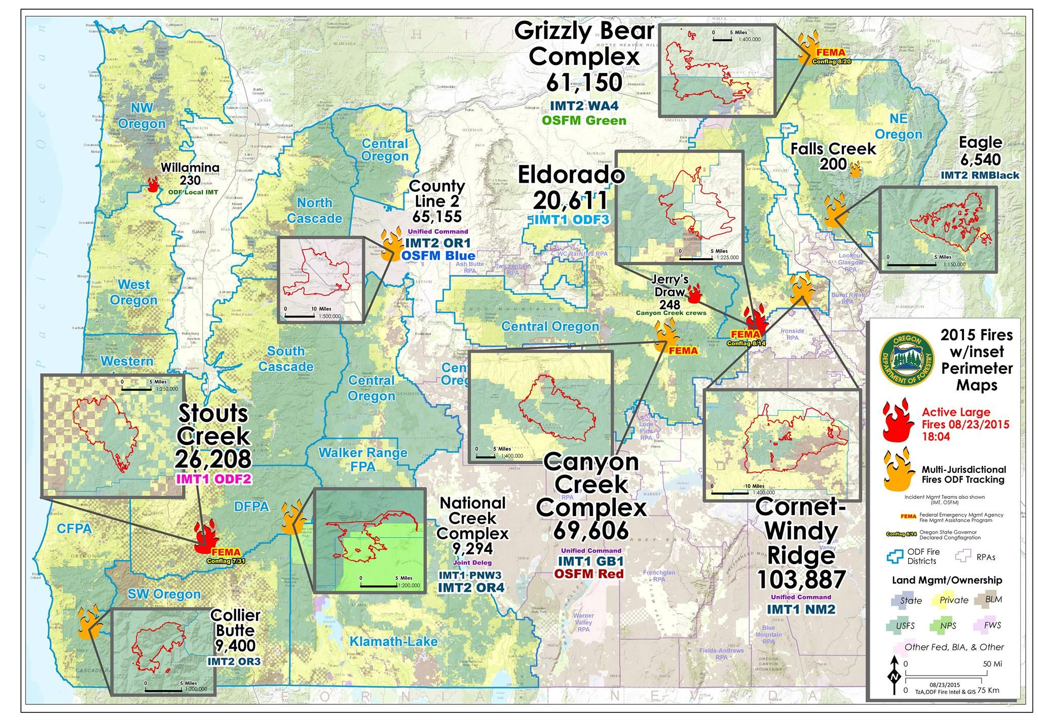 Oregon Department of Forestry Heres todays classic Large Fire