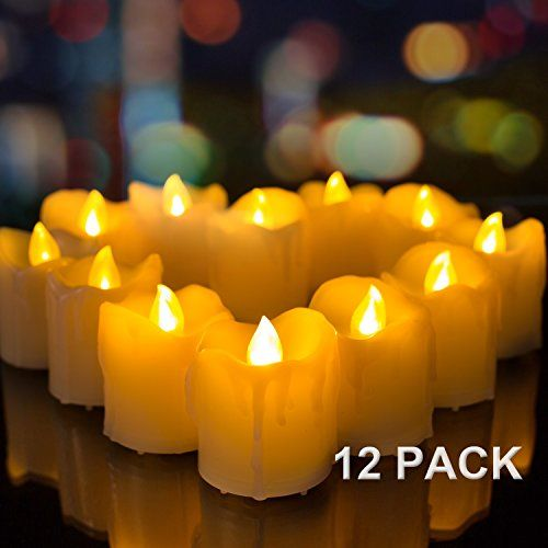Flameless Votive Candles Flickering Flameless Votive Candles Pack Of 12  Amagic Dripping