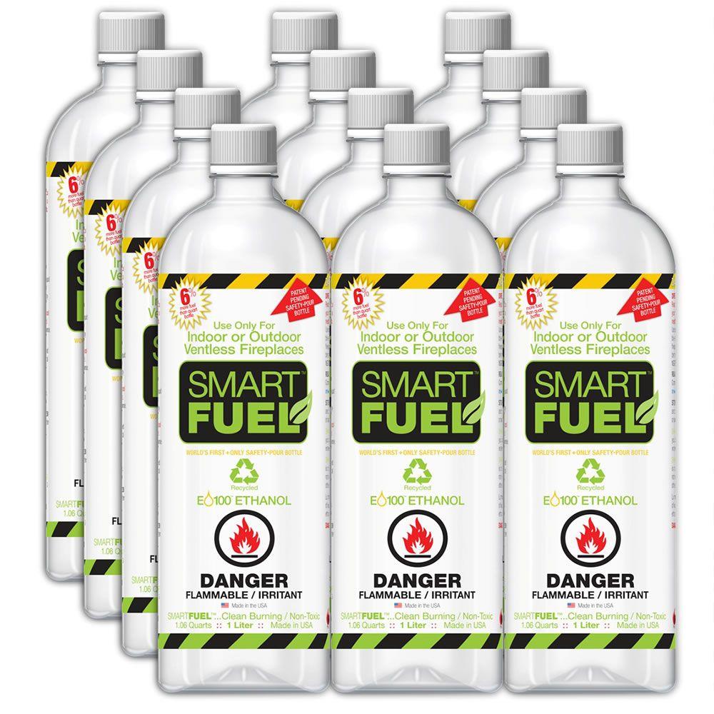 Twelve 1Liter Fuel Bottles For The Tabletop Fireplace