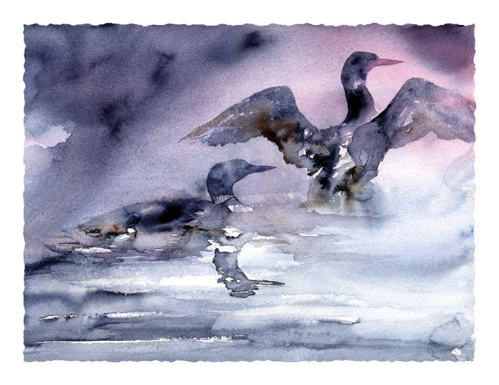 Loon Mist - Heron Dance Art Studio
