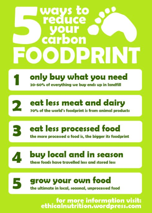 Five Ways to Reduce Your Carbon Foodprint | Savoury foods ...