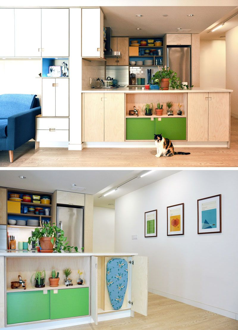 plenty of creative small space storage solutions were added to this apartment interior with on kitchen organization for small spaces id=55572