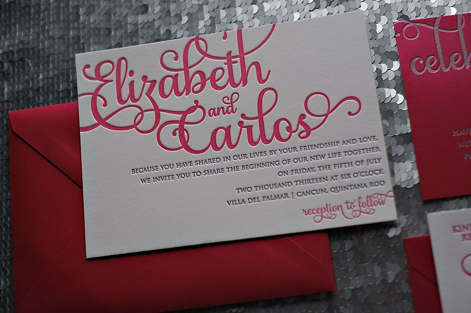 17 Best images about Wedding Invitations – Pink and Red Wedding Invitations