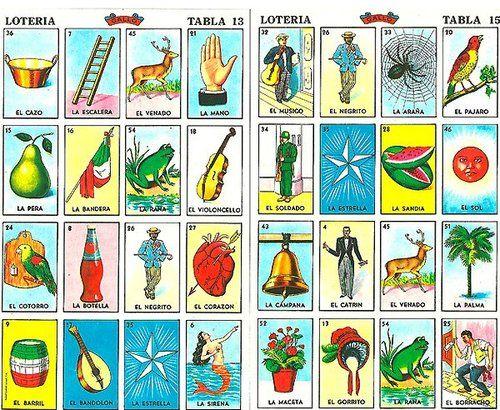 Loteria mexican bingo game