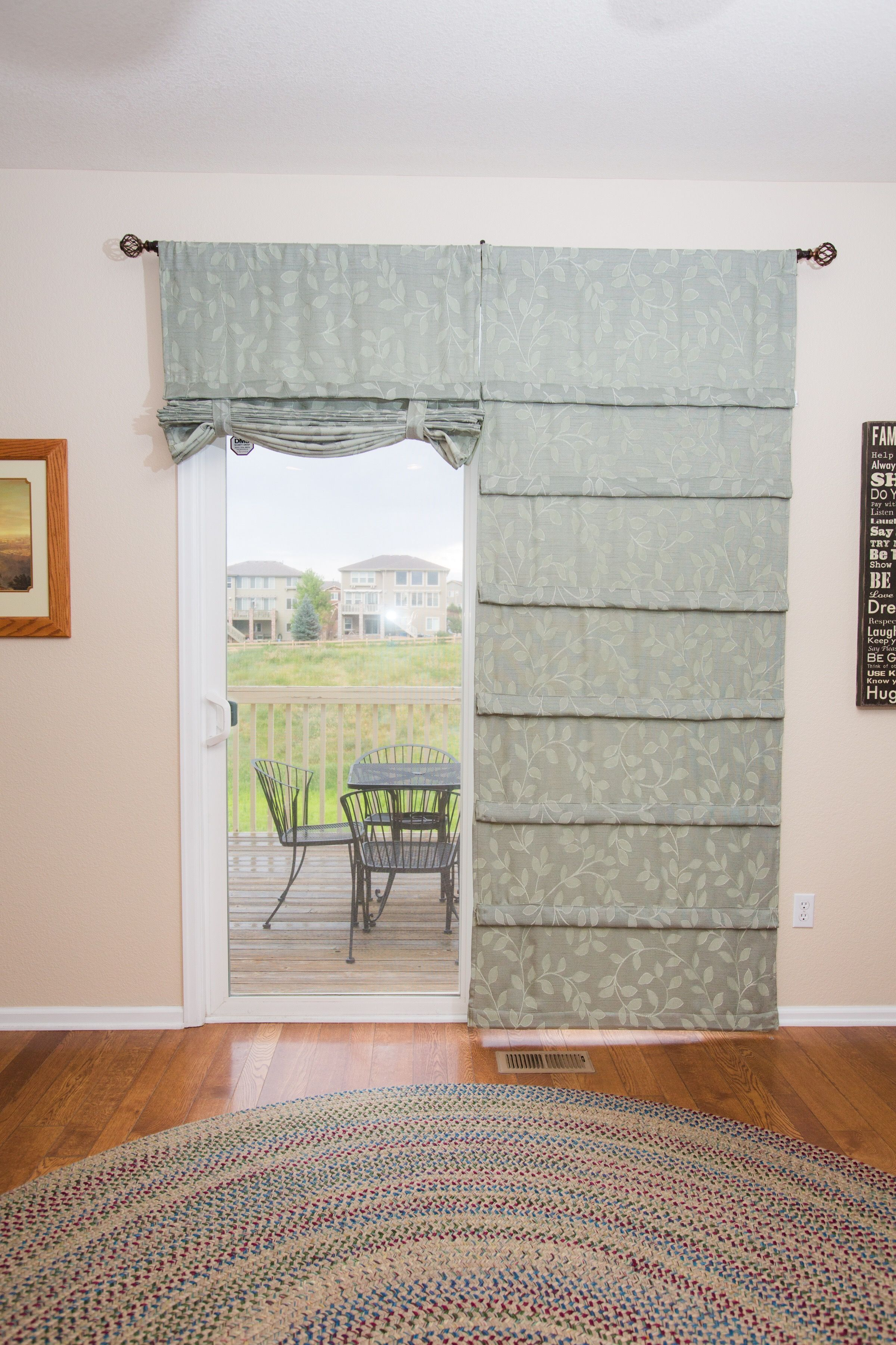 Sliding Glass Door Curtain It S A Shade And Curtain All In One
