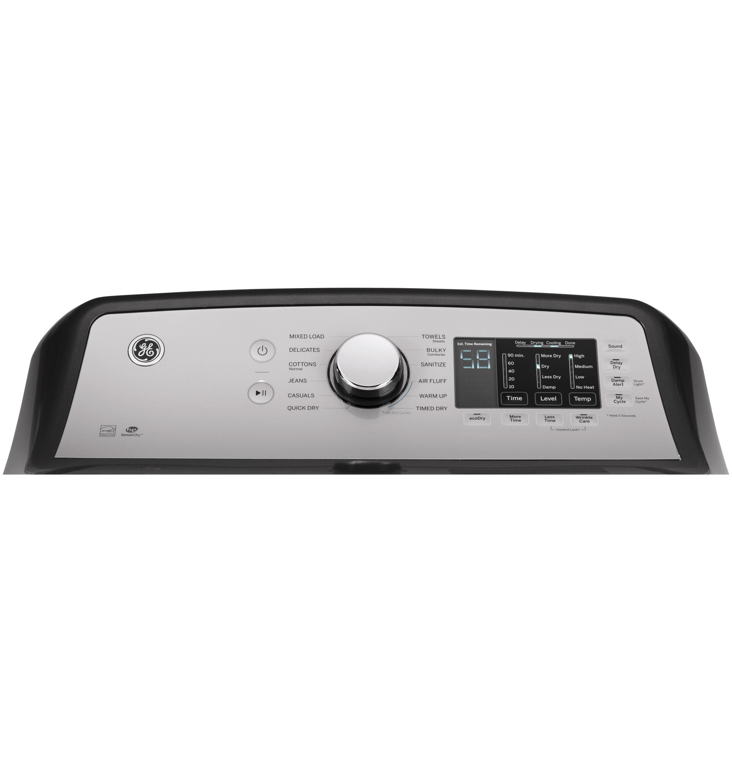 Ge Gas Dryer With He Sensor Dry 7 4 Cu Ft Diamond Gray Gas Dryer Dryer