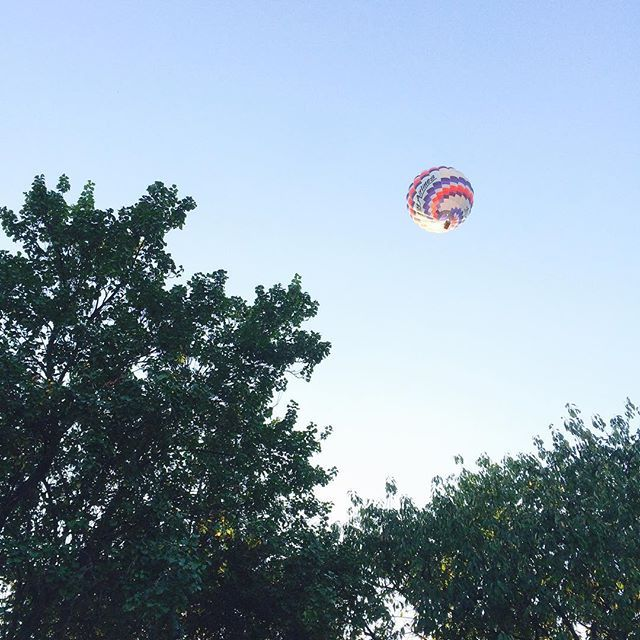 Perfect evening for a balloon ride