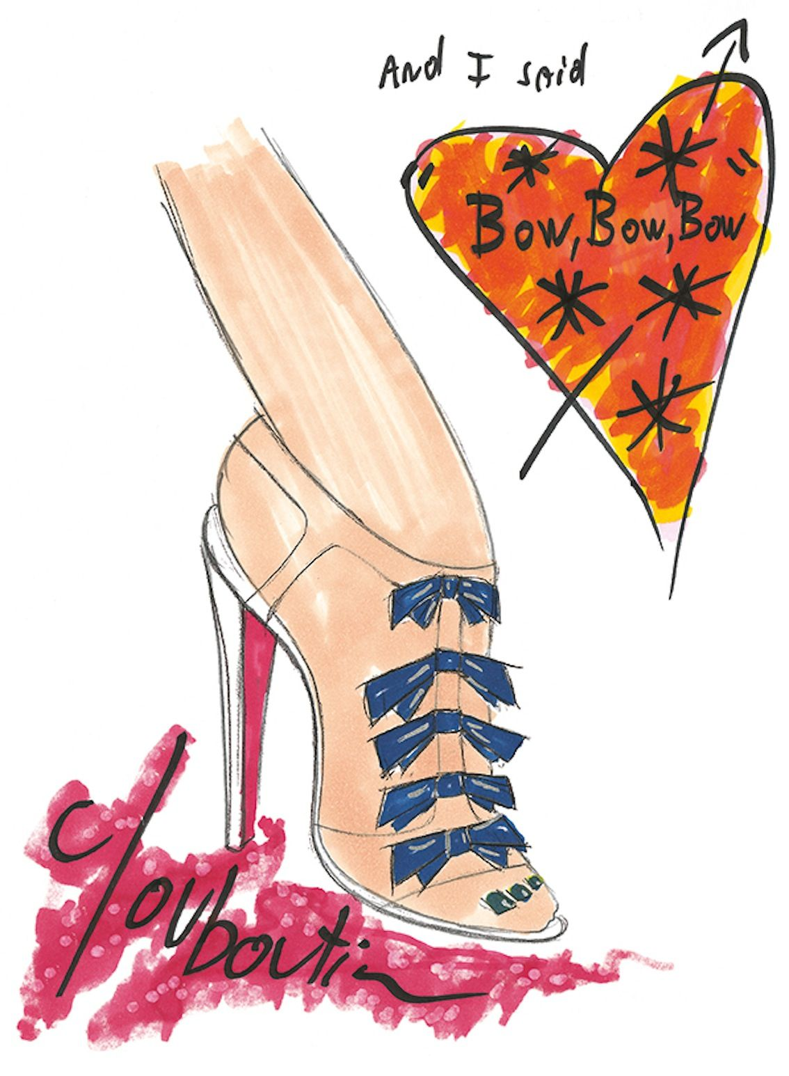 Christian Louboutin Anniversary Sketch