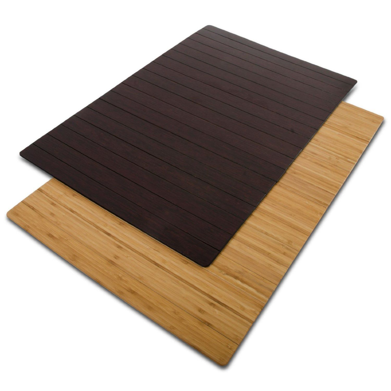 "Amazon casa pura Non Slip Bamboo Bath Mat Natural 24"" x"
