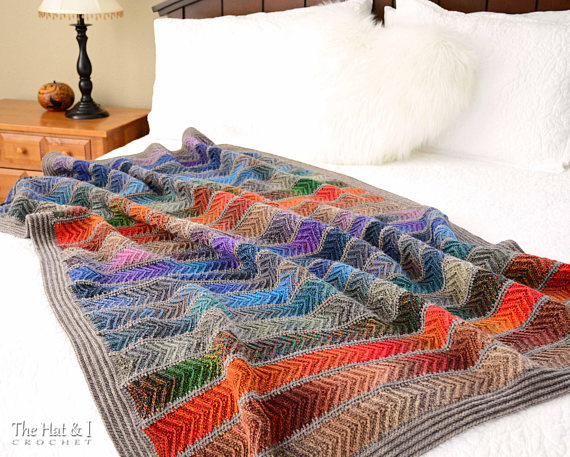 Crochet Pattern Super Fine Sampler Crochet Blanket Pattern