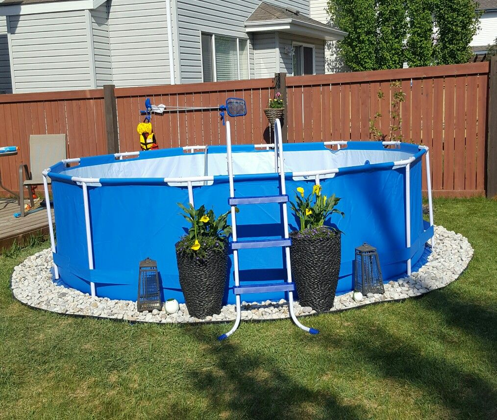 Backyard Landscaping Around Above Ground Pool : Above ground pool landscaping backyard living summer