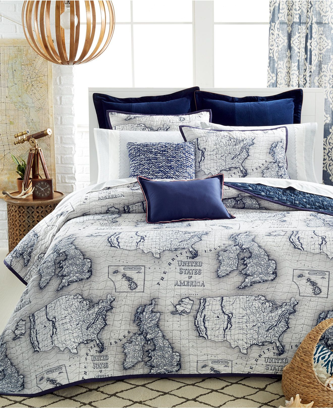 CLOSEOUT Tommy Hilfiger Explorer Quilt Collection Quilts