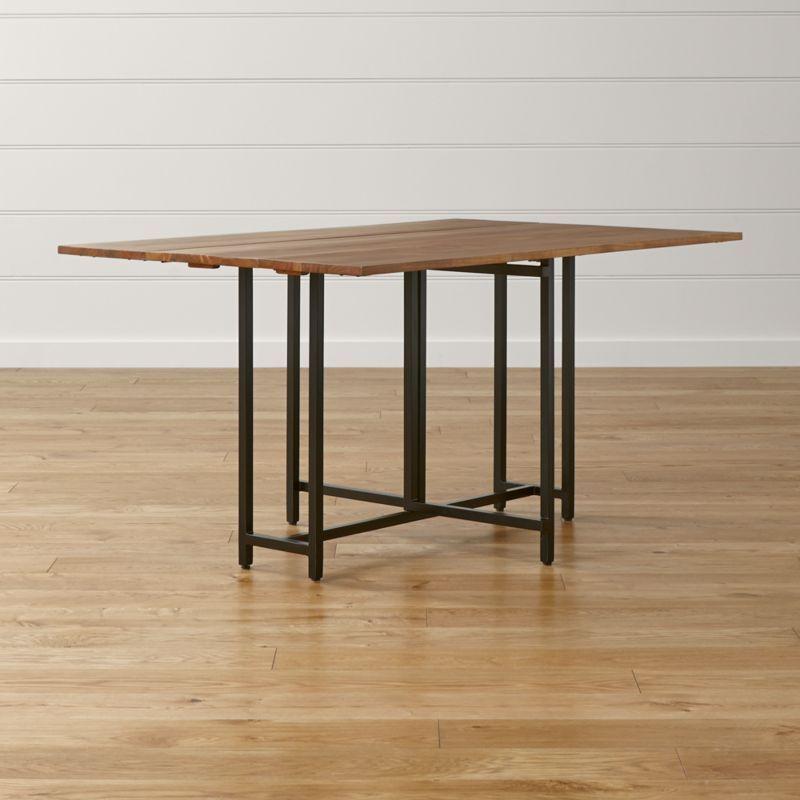 Origami Drop Leaf Rectangular Dining Table Reviews Crate And Barrel Rectangular Dining Room Table Rectangular Dining Table Dining Room Table