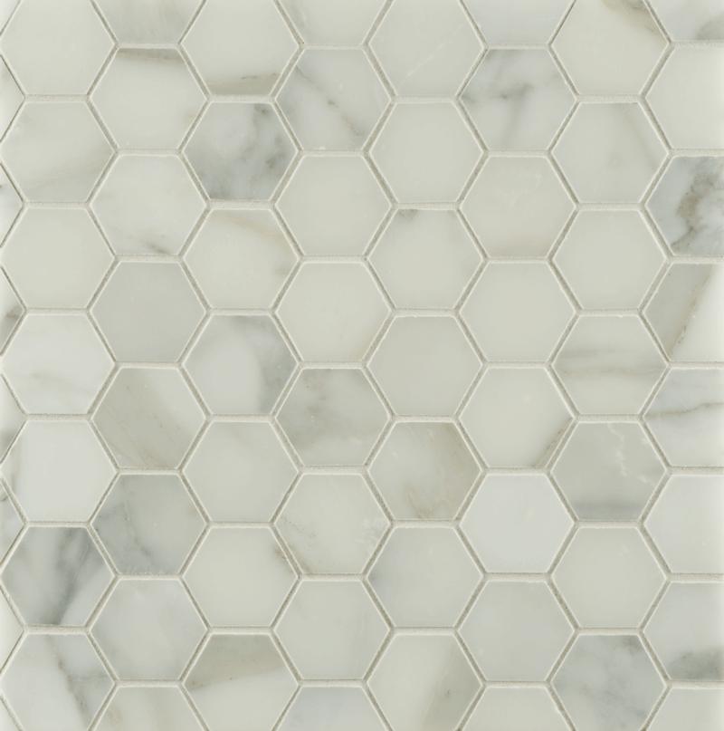 """Ann Sacks Mosaic Bathroom Tile: ANN SACKS Calacatta Borghini 2"""" Hexagon Marble Mosaic In"""