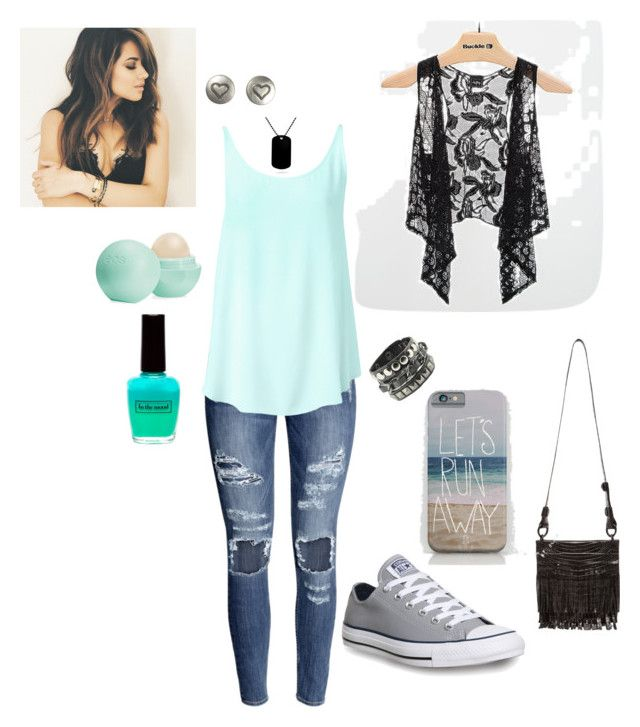 Untitled #21 by calli-style on Polyvore featuring Witchery, Daytrip, H&M, Converse, Nancy Gonzalez, Fat Face and Eos