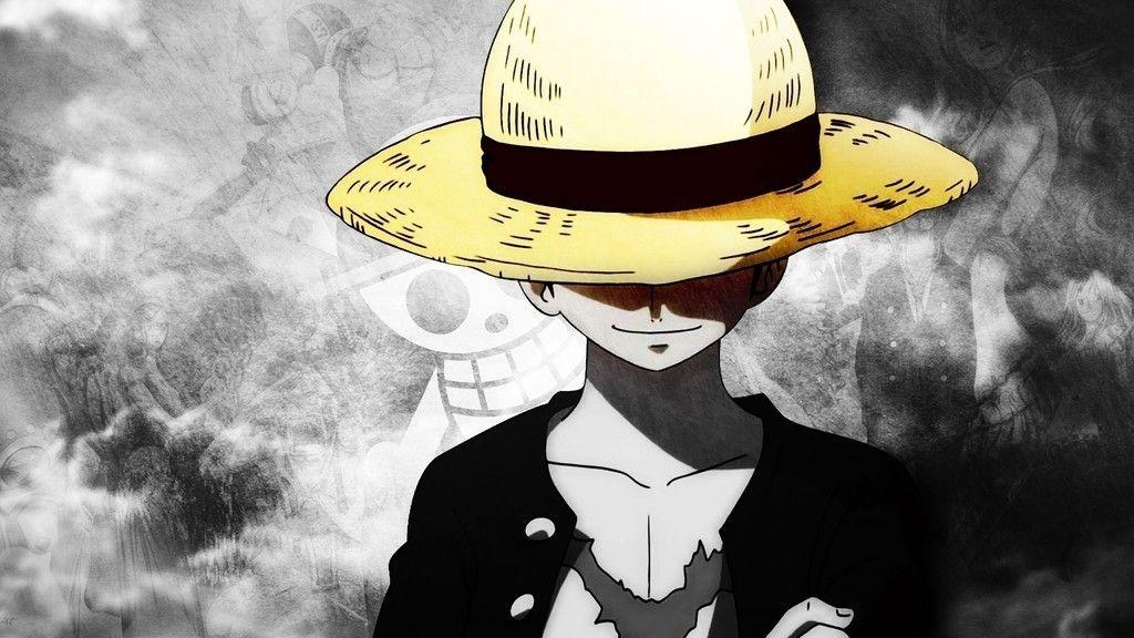 Monkey D. Luffy, hat, anime boy, One Piece wallpaper | One ...