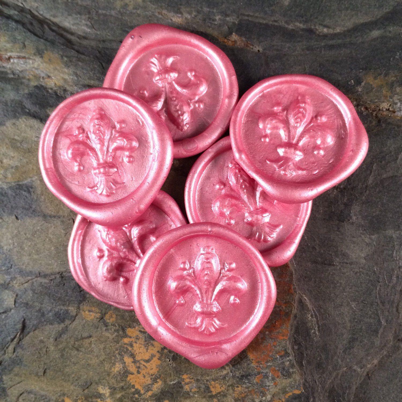 Harrison G monogrm wax seal stickers   Wax seals, Wax, Pink