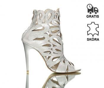 Szpilki Sandaly Botki Z Perforacjami Srebrne 37 6026097877 Oficjalne Archiwum Allegro Womens High Heels Shoes High Heels