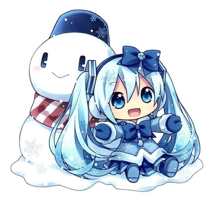 snow miku chibi - Google Search                                                                                                                                                                                 Más