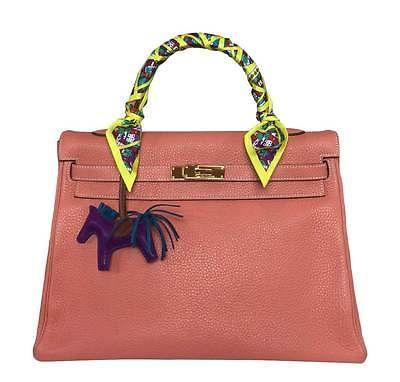 c5d4875b2ae0 ... clearance hermes kelly 35cm togo leather handbag khaki gold hermes  kelly bag 35cm in peach crevette ...