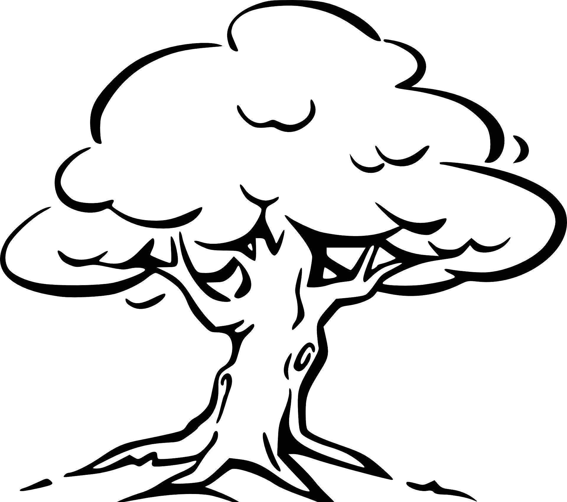 Malvorlagen Baum Perahu