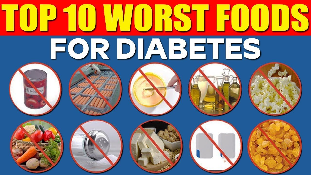 Top 10 Worst Foods For Diabetes Health tips 2017 Bad