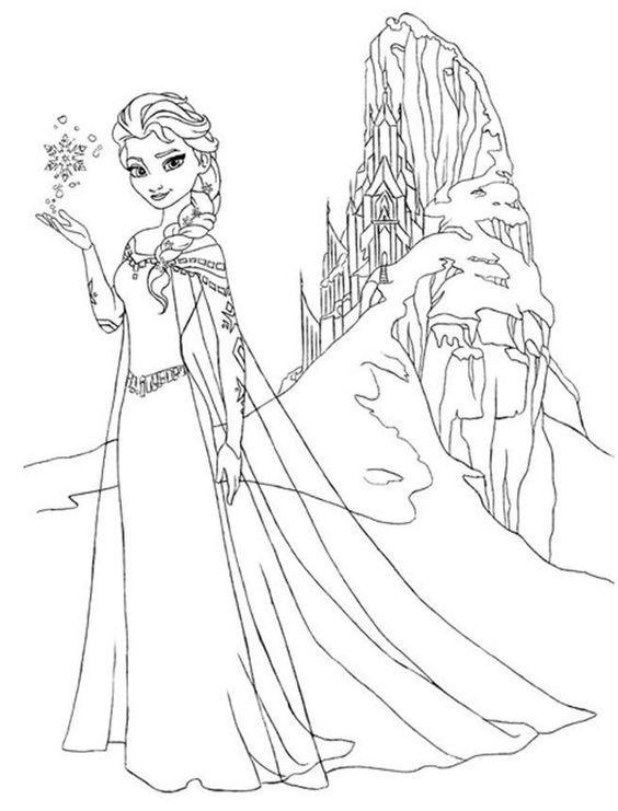 Frozen Coloring Pages Elsa Face 2 coloring pages Pinterest