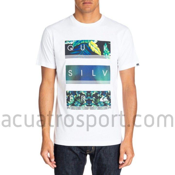 rendimiento confiable ahorre hasta 80% mejores marcas Camiseta Quiksilver Classic Tee para hombre. Color blanco ...