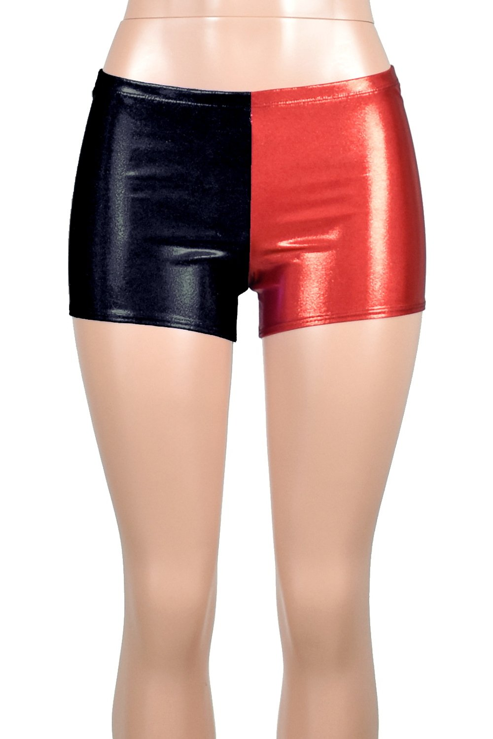 Red and black harley quinn shorts