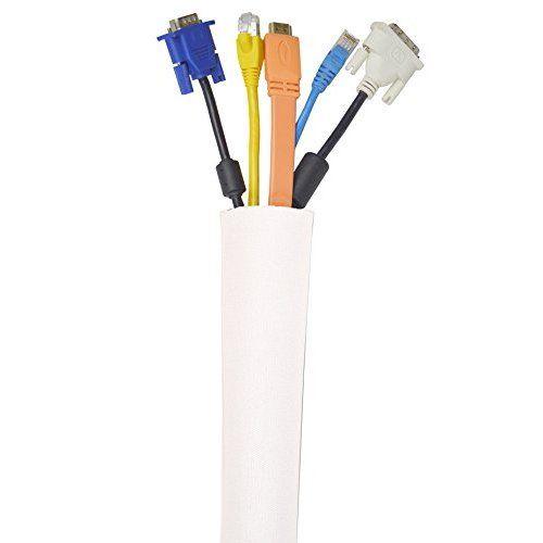 Kootek 59 Inch Velcro Cable Management Neoprene Cord Cover Sleeve ...