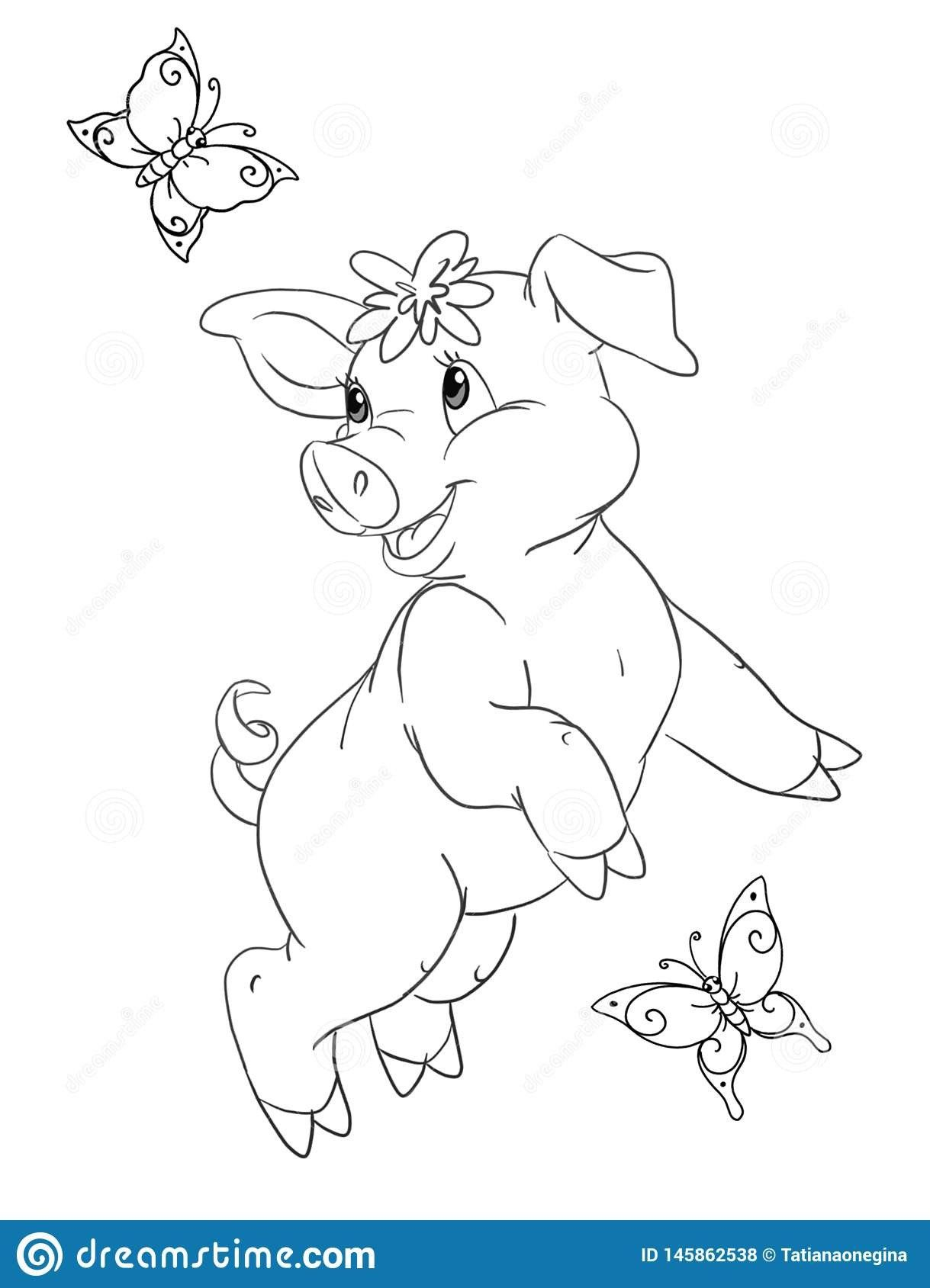 49++ Cute pig coloring pictures info