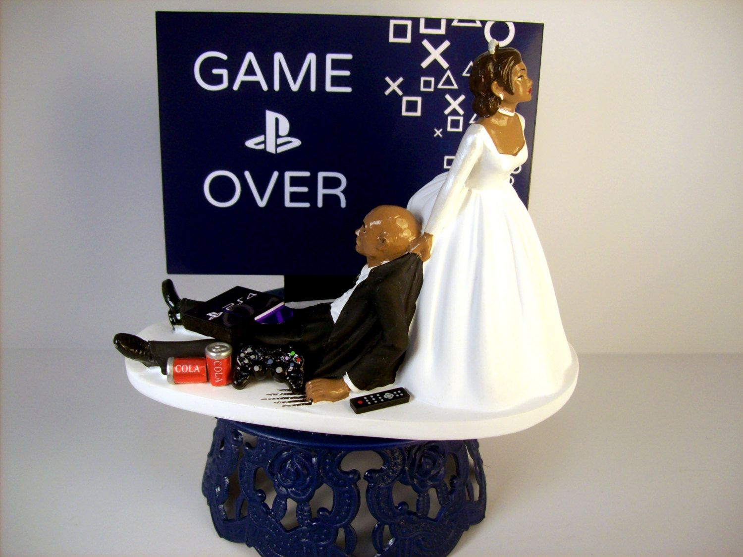 african american wedding cake toppers humorous wedding cake topper bald american black 10601