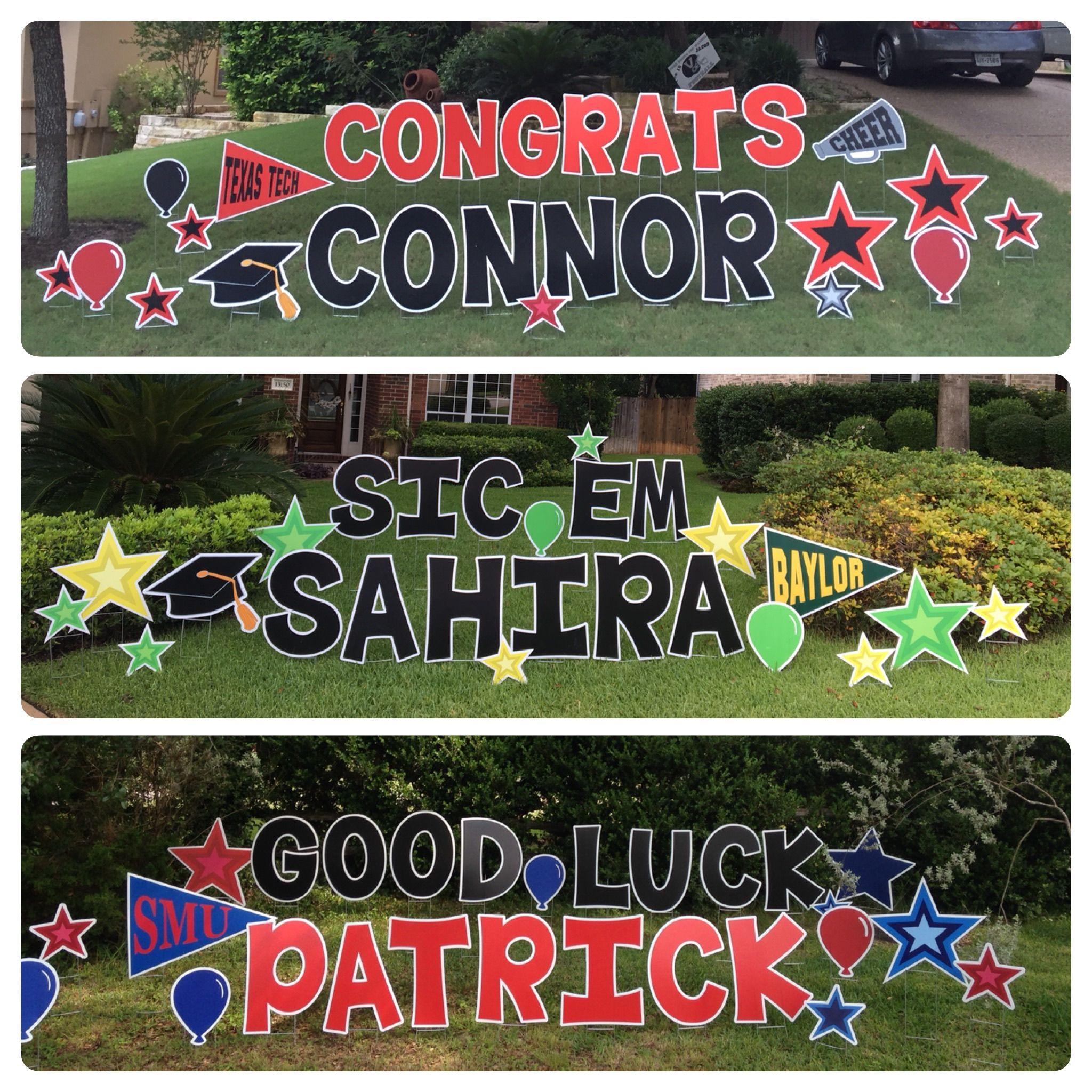 card my yard  home  graduation yard signs happy