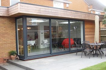 Three Pane Aluminium Sliding Patio Doors In Smarts Visoglide