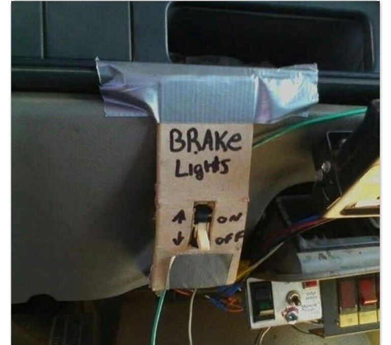 If You Really Really Donu0027t Want To Get Your Brake Lights Fixed By A  Mechanic And Youu0027ve Got Superhero Reflexes, You Could Always Install A Light  Switch For ... Great Pictures