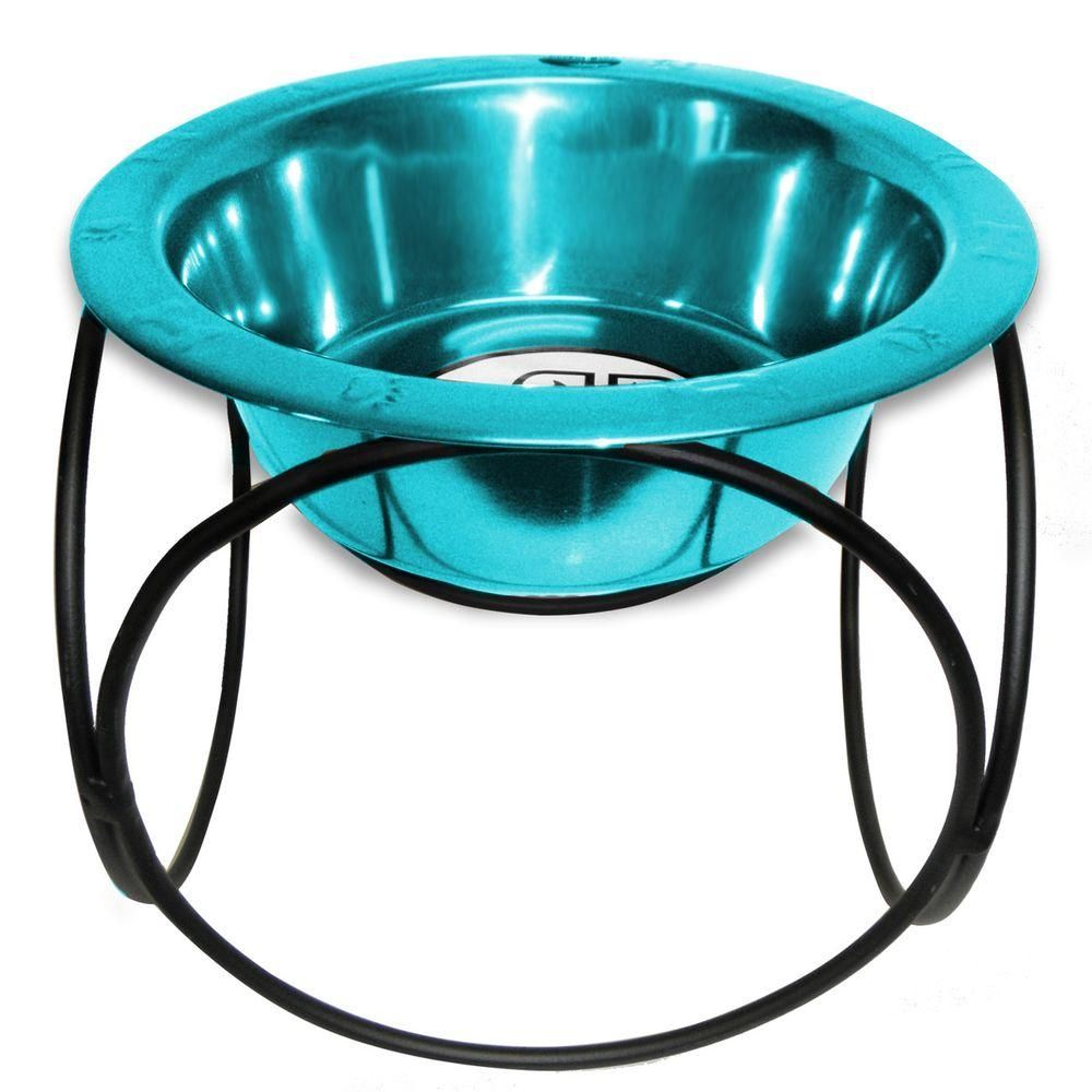 Platinum Pets Platinum Pets Olympic Diner Feeder With Stainless