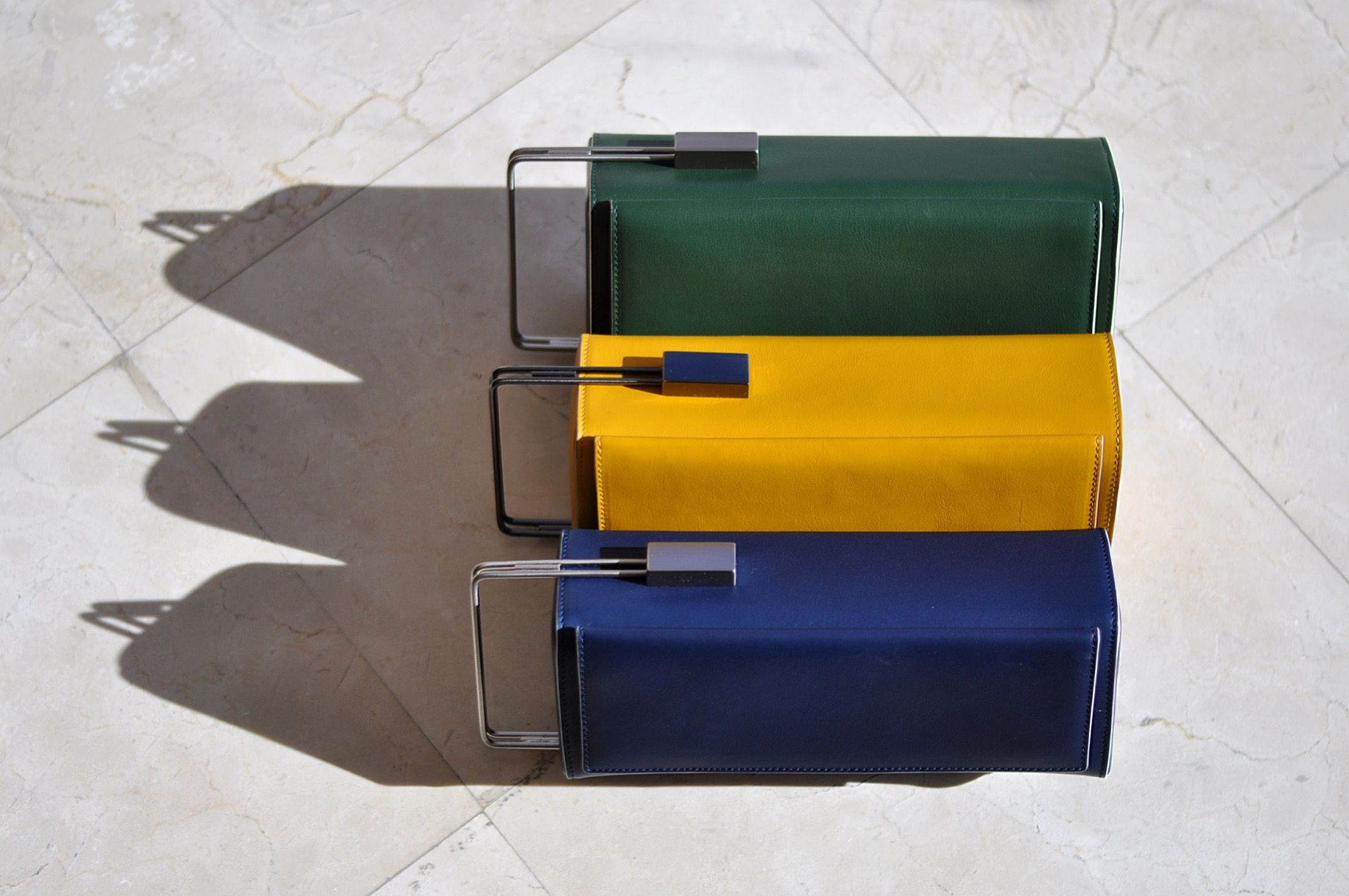 Night and Day Green, Yellow and Blue. #lautem #design #handbag #design Www.lautemofficial.com