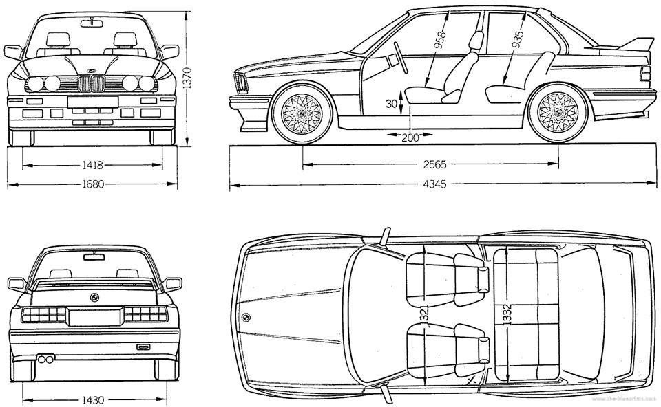 Bmw E30 M3 Bmw E30 E30 Blueprints