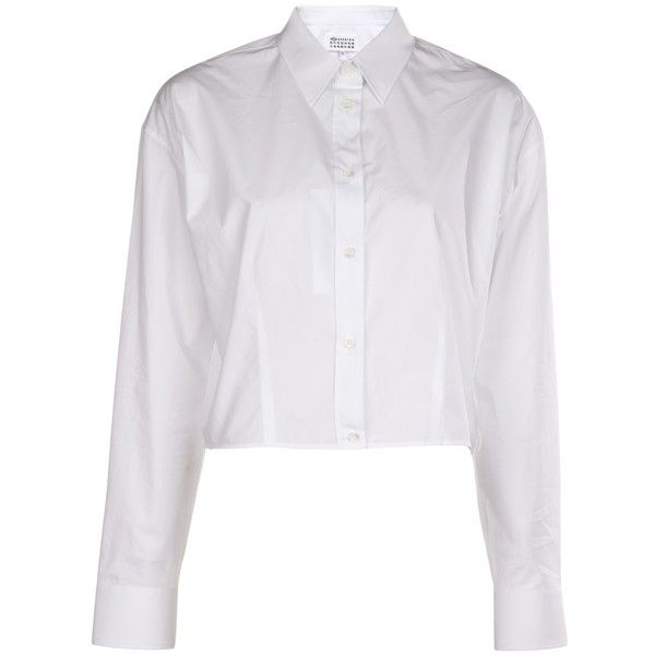 f6d12865a13b7b MAISON MARTIN MARGIELA cropped shirt (1 845 ZAR) ❤ liked on Polyvore  featuring tops