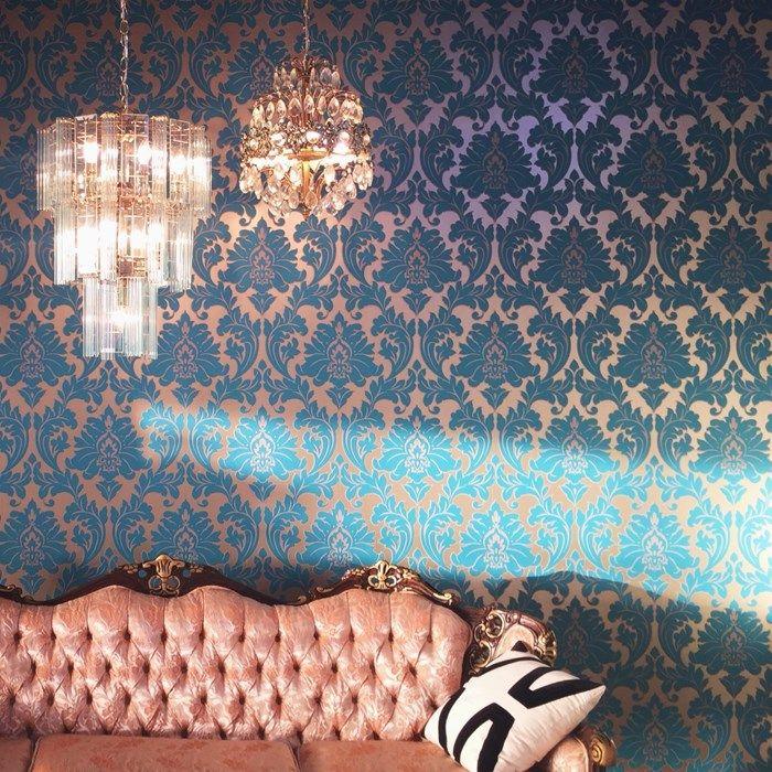 papier peint majestueux bleu sarcelle graham and brown my room pinterest sarcelle papier. Black Bedroom Furniture Sets. Home Design Ideas