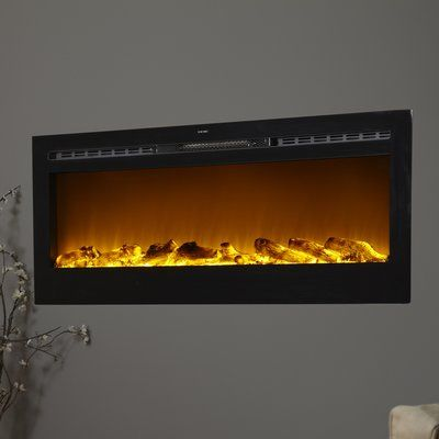 Wade Logan Bettie Wall Mounted Electric Fireplace Products Wall