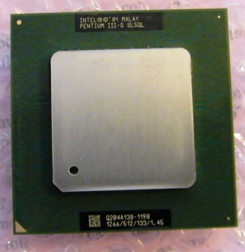 Intel Pentium Iii S P3 Cpu Processor 126ghz Sl5ql Socket 370 4 478