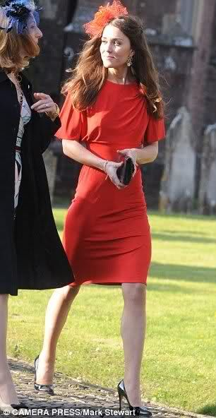 Kate Wears Red At Another Wedding