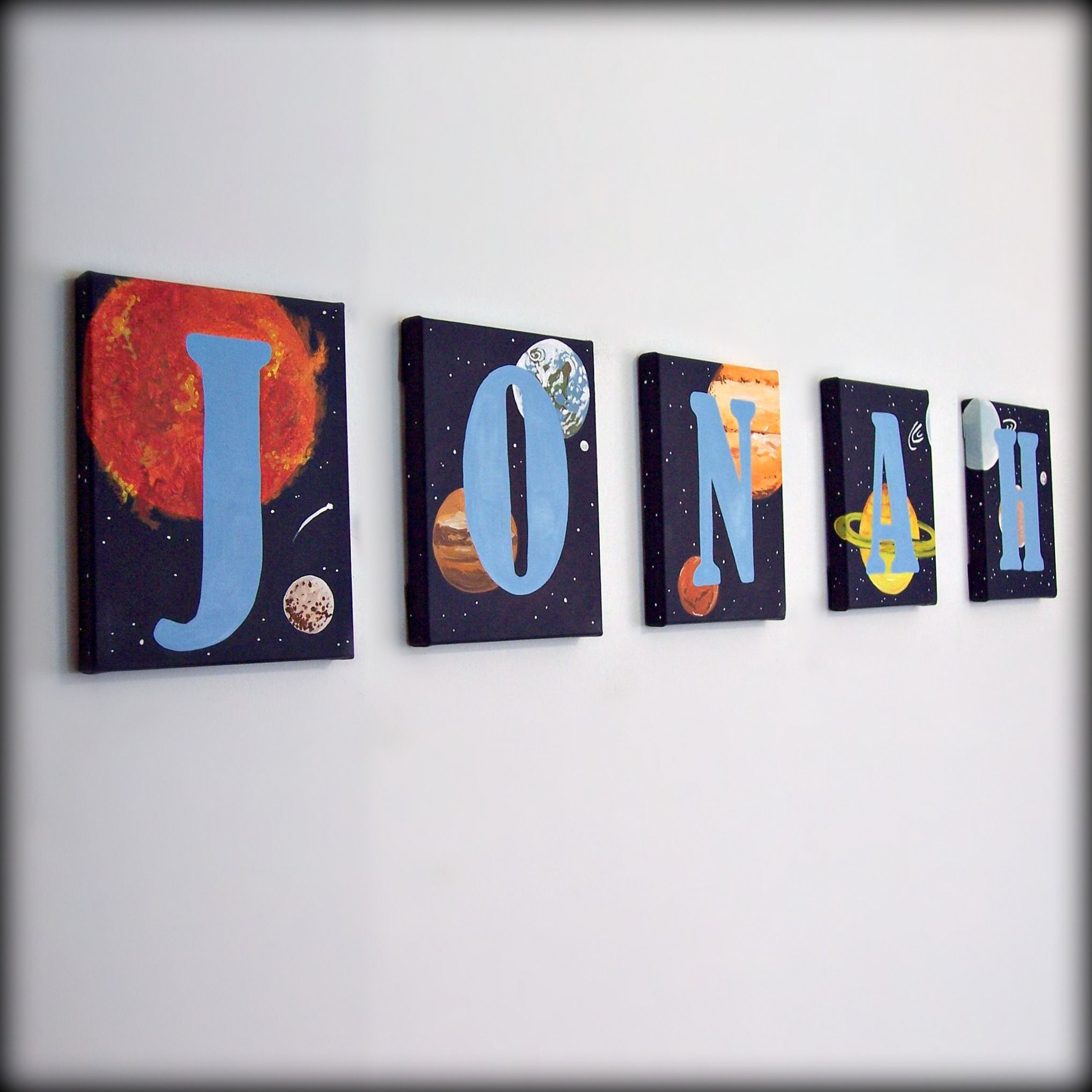 Bedroom Decor Letters solar system letters -child's room decor | letters for boys