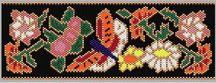Asian Butterfly Peyote Bracelet Pattern at Sova-Enterprises.com Many Free Bead Patterns and Tutorials available!