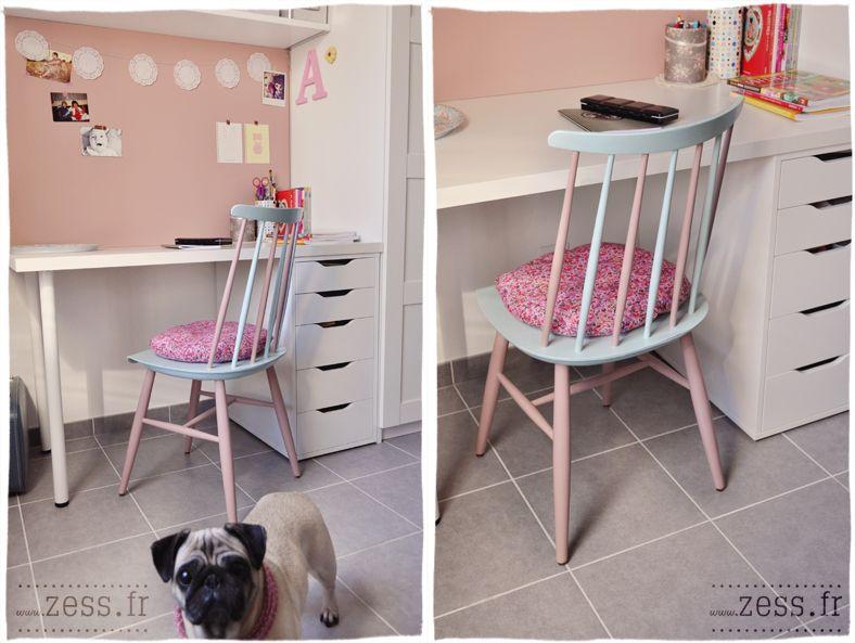 Diy : une chaise pastel pour mon bureau sites à visiter