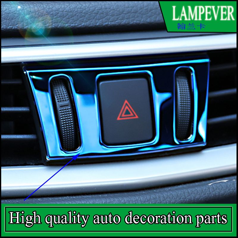 Car styling Interior Dashboard AC Air Switch Warning Light Cover ...