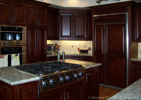 Love This Wood Work In Kitchen Mahogany Kitchen Affordable