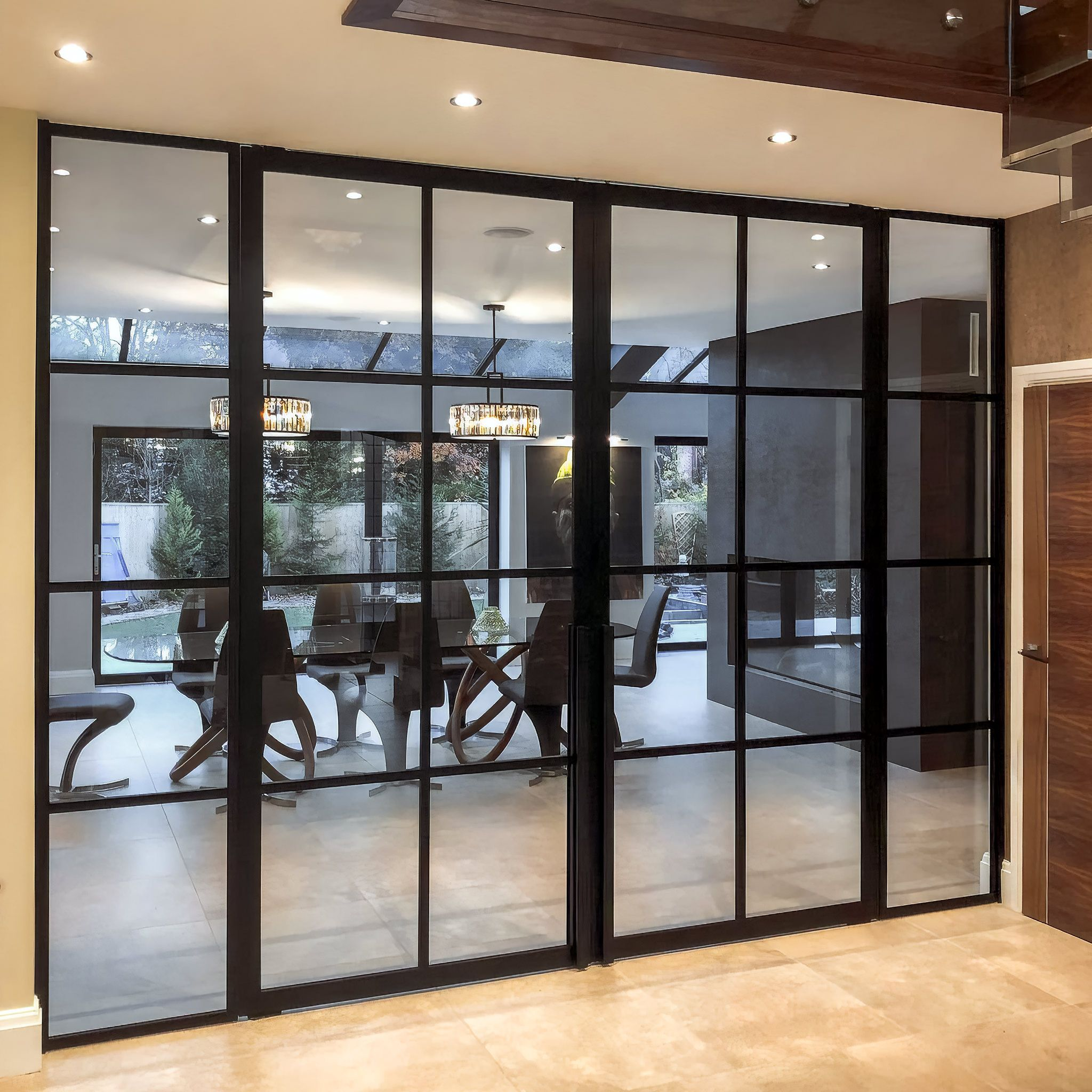 Crittall Style Home Office Partition Room Divider Doors Sliding Door Room Dividers Internal Glass Doors